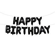 Bong bóng chữ Happy Birthday màu đen thumbnail