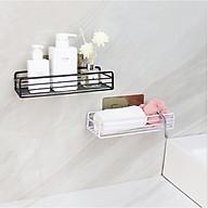 Giá để đồ nhà tắm kim loại bền đẹp, kệ hình chữ nhật đựng đồ đa năng không cần khoan tường siêu tiện dụng - giao màu ngẫu nhiên thumbnail