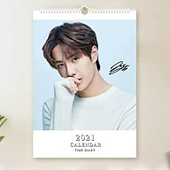 Lịch Vương Nhất Bác 2021 lịch treo tường khổ A3 thumbnail