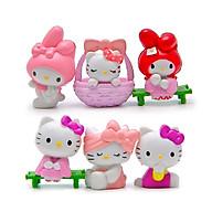 Bộ 6 Mô Hình Mèo Hello Kitty Trang Trí Xe Hơi , Bánh Sinh Nhật - Mẫu 1 thumbnail