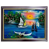 Tranh sơn mài tranh phong thủy may mắn thuận buồm xuôi gió SM00007 60x40cm thumbnail