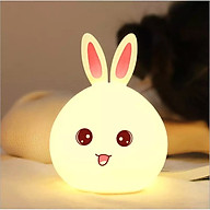 Đèn ngủ trang trí để bàn hình mặt thỏ độc đáo thumbnail