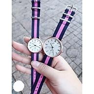 Đồng hồ dây vải thời trang cao cấp phối màu thumbnail