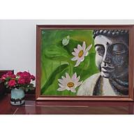 Tranh sơn dầu họa sỹ sáng tác vẽ tay PHẬT SEN thumbnail