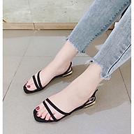 Giày sandal thời trang đế bệt thiết kế đơn giản hàng chuẩn size gót cao 2cm thumbnail