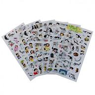 Bộ 6 tấm sticker mèo trang trí TZ-386 thumbnail