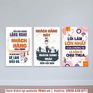 Tranh chữ canvas treo văn phòng, giá rẻ, nhiều ưu đãi, bao gồm khung gỗ thumbnail