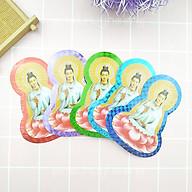 Combo Bộ 2 Miếng dán decal Phật Bà Quan Âm tọa sen(giao màu ngẫu nhiên) thumbnail