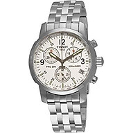 Tissot Men s T17158632 T-Sport PRC200 Chronograph Stainless Steel Silver Dial Watch thumbnail