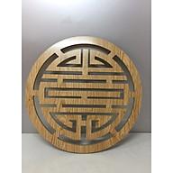 Trang trí chữ Thọ dành cho bàn thờ treo tường ( tặng miếng dán dính vào tường ) chất liệu gỗ Đường kính 37 cm thumbnail