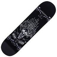 Ván Trượt Mặt Nhám Skateboard Chuẩn Thi Đấu, Mặt Nhám Bánh PU + Khung Hợp Kim Nhôm thumbnail