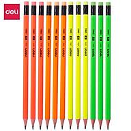 Bút chì 2B Deli - Neon nhiều màu sắc - 12 cây hộp - WU51400 thumbnail