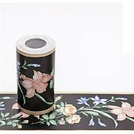Cuộn 10m x 10cm len dán viền tường hoa ly thumbnail