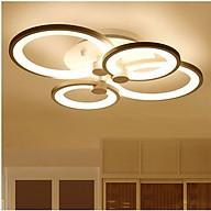 Đèn trần LED mâm 3 màu ánh sáng 4 cánh có điểu khiển từ xa thumbnail