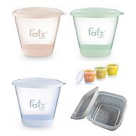 Bộ 3 cốc trữ thức ăn dặm (3 màu) 150ml Fatzbaby tặng 1 hộp trữ đông 200ml thumbnail