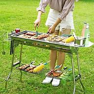 Bếp nướng than to chất liệu inox kích thước 73 x 35 cm chống cháy thực phẩm , an toàn thực phẩm , không khói ngoài trời - Hàng chính hãng thumbnail