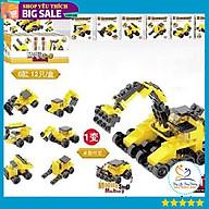 Set 6 xe lắp ráp mini DIY 6in1 đủ các loại xe cho bé thumbnail