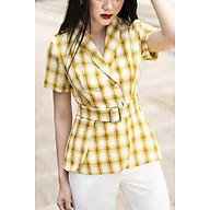 áo vest kẻ vàng nữ tay cộc Design thumbnail