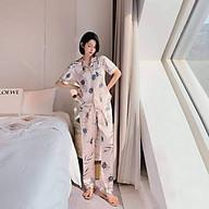 Bộ Lụa Mặc Nhà Đồ Ngủ Pijama Lụa Cao Cấp Siêu Mát Mềm Mịn thumbnail