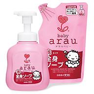 Combo Sữa Tắm Cho Em Bé Arau Baby (Bình 450ml + Túi 400ml) thumbnail