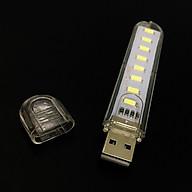 Đèn 8 led siêu sáng cắm USB vỏ nhựa thumbnail