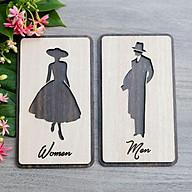 Bảng Gỗ Treo Toilet Men + Women thumbnail