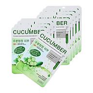 Combo 10 đắp mặt nạ giấy dưa leo cấp nước dưỡng da DABO hàn quốc ( 22ml gói) kèm 1 nơ xinh thumbnail