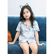 Bộ mặc nhà Pijama bé gái hình khủng long thumbnail