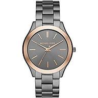 Michael Kors Men s Slim Runway Quartz Watch with Stainless Steel Strap thumbnail