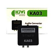 Bộ chuyển âm thanh TV 4K quang optical sang audio AV ra amply + Cáp optical Kiwi KA03 - Hàng chính hãng thumbnail
