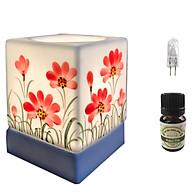 Đèn xông tinh dầu vuông VGOM10 và 1 chai tinh dầu bạc hà Eco oil 10ml cùng 1 bóng đèn thumbnail