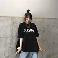 Áo thun unisex nam nữ WinBeen dáng rộng vải cotton mát in chữ CHAMPS thumbnail