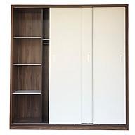 Tủ Áo Cửa Lùa 2m Gỗ MDF Melamine Cánh Trắng thumbnail