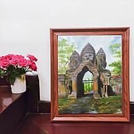 Tranh sơn dầu họa sỹ sáng tác vẽ tay ANGKOR THOM thumbnail