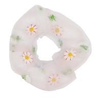 Hair Scrunchies Elastic Hair Bands Ties Ropes Daisies Cute Sweet Hairband Net Yarn Ponytail Accessories Headwear for thumbnail