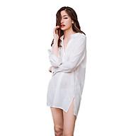 Áo sơ mi ngủ nữ voan cát mỏng cổ tầu gợi cảm trẻ trung ArcticHunter, thời trang thương hiệu chính hãng thumbnail