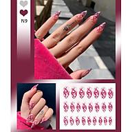 Bộ 24 móng tay giả như hình N9 (kèm keo) thumbnail