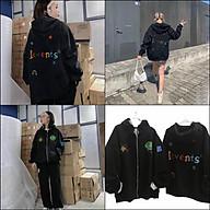 Áo khoác dây kéo đen levents, áo khoác thun nỉ cầu vòng, áo khoác chống nắng có mủ unisex ulzzang from rộng phong cách hàn quốc, áo khoác quảng châu, áo khoác hàng cao cấp bán shop, áo khoác nam nữ đều mặc được thumbnail