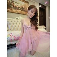 Đầm ngủ ren sexy quyến rũ kèm quần lót lọt khe, hàng nhập Quảng Châu thumbnail