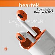 Tai nghe không dây bluetooth Beartek Bearbud B66 Cảm ứng dừng bật nhạc Thiết kế thông minh giúp không bị đau tai khi sử dụng thời gian dài Hàng nhập khẩu thumbnail