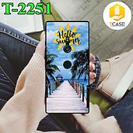 Ốp lưng Tcase dành cho Sony Xperia XZ3 chất liệu nhựa dẻo đen nhám TPU có hai lỗ xỏ dây đeo in nổi 3D hình Bộ Sưu Tập Hello Summer 3 - Hàng Chính Hãng thumbnail