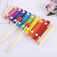 Đàn gỗ 8 thanh nhiều màu sắc cho bé phát triển khả năng cảm thụ âm nhạc, màu sắc - giáo dục trí tuệ sớm AIQ thumbnail