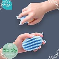 Bàn chải silicone dùng tắm, gội đầu massage MINAN cho bé thumbnail