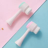 Cọ Rửa Mặt Massage 2 Đầu Cầm Tay Silicon Siêu Sạch Mềm Mịn An Toàn Cho Da - MP083 thumbnail
