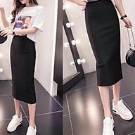 Chân váy bút chì sẻ sau vải Umi Hàn Quốc co giãn 4 chiều thumbnail