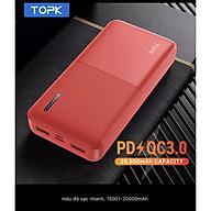 Sạc Dự Phòng TOPK I2009 I2009Q 20000MAh Sạc Nhanh PD QC3.0 Cho iPhone HUAWEi Samsung - Ha ng nhập khẩu thumbnail