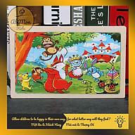Tranh Ghép Hình Gỗ 24 Miếng Cho Bé Montessori cao cấp Đồ chơi Gỗ - Giáo dục - An toàn - Thông minh thumbnail