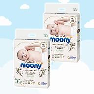 COMBO 2 Bỉm - Tã dán Moony Natural size S- 58 miếng (cho bé 4-8kg) thumbnail