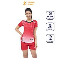 Quần Áo Bóng Chuyền Enzo CP Sport Màu Đỏ Nữ Chất Liệu Vải Mè Sọc Thấm Hút Mồ Hôi Thoải Mái Hoạt Động BC04 thumbnail
