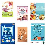 Combo 5 cuốn thực đơn dinh dưỡng cho trẻ từ 0-3 tuổi+bách khoa nuôi dạy trẻ từ 0-3 tuổi +ăn dặm không phải là cuộc chiến+nuôi con không phải là cuộc chiến+để con được ốm (tặng kèm sách người Mỹ giúp con ham đọc sách) thumbnail